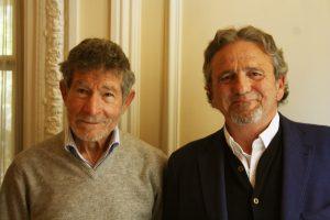 Nuestro invitado, Carlos Soria, junto a Juan Cabrera